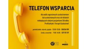 Telefon wsparcia Ośrodka Profilaktyki i Terapii Uzależnień