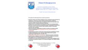 Lekcja otwarta dla kandydatów do klasy VII dwujęzycznej