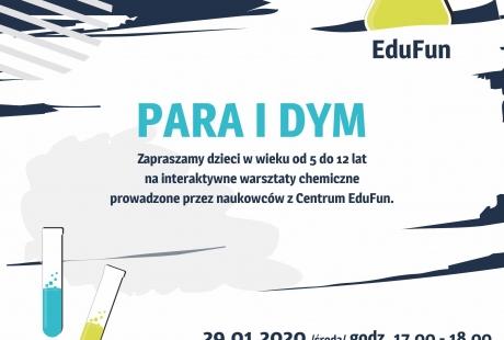 """EduFun – """"Para i dym"""" warsztaty edukacyjne z Centrum EduFun w Bibliotece Gdynia - filia nr 1."""
