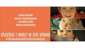 Słuchaj i wierz w ich słowa - nowa kampania społeczna z okazji Międzynarodowego Dnia Praw Dziecka
