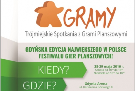 """""""Festiwal Gier Planszowych """"GRAMY"""" w Gdyni już po raz dwunasty!"""