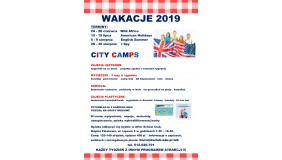 WAKACJE 2019  CITY CAMPS