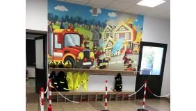Ognik - nowa sala edukacyjna dla najmłodszych w Komendzie Miejskiej Państwowej Straży Pożarnej w Gdyni