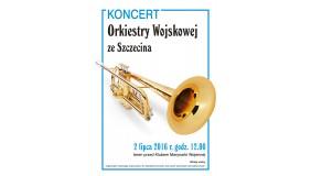 Koncert plenerowy Orkiestry Wojskowej ze Szczecina