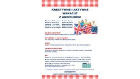 Kreatywne i aktywne wakacje z angielskim