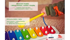 Fundacja Bomalihu ogłasza NABÓR DO NOWEGO PROJEKTU - MUZYCZNA RECEPTA - zabawa słowem, ruchem i muzyką