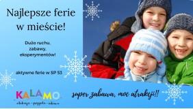 Aktywne i twórcze ferie zimowe 2020 dla dzieci 5-8 lat!