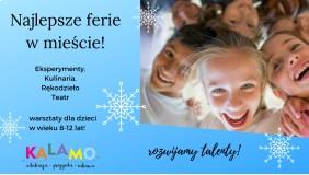 Ferie warsztatowe 2020 dla dzieci 8-12 lat!