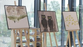 """Wystawa ilustracji """"Kotki, liski, tygryski… czytam o wszystkim!"""""""
