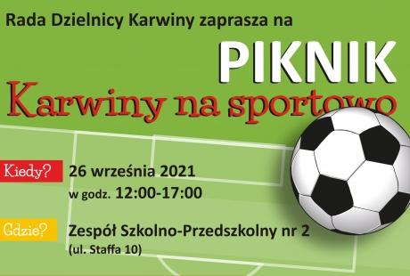 """Piknik """"Karwiny na sportowo"""""""